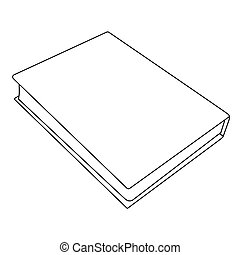 book outline image. Isolated vector illustration