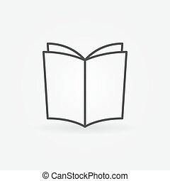 Book outline vector icon