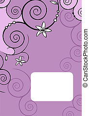 book package - white flowers in abstract violet background