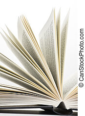 book pages - open book on white background