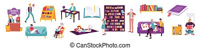 Book People Icon Set