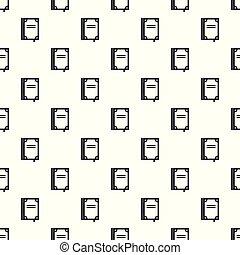Book publication pattern seamless vector