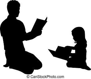Book reading .