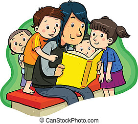Book Reading - reading a book with kids