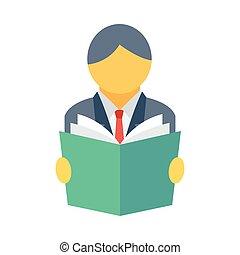 book reading flat icon