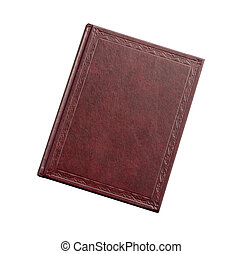 book red-brown color isolated on white background
