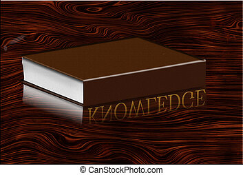 Book reflects knowledge in desk