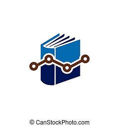 book report with chart graph logo vector