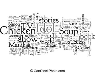 Book Review Chicken Soup For The American Idol Soul text background wordcloud concept