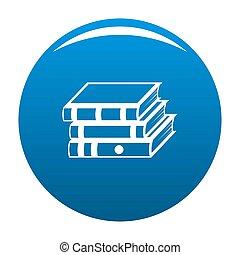 Book school icon blue