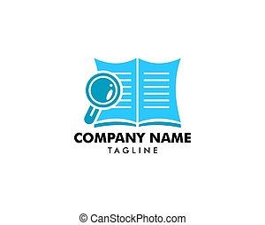 Book Search Logo Template Design Vector