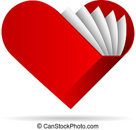 book shape heart vector illustration. eps10 file with...