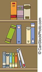 Book Shelf - A bunch of assorted cartoon books on a shelf.