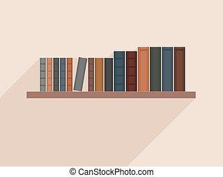Book shelf design - Vector bookshelf. Book shelf ...