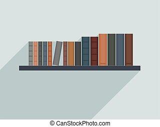 Book shelf illustration - Vector bookshelf illustration. ...