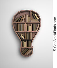 book shelf in the form of lamp