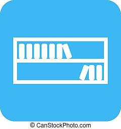 Book Shelf - Shelf, book, books icon vector image. Can also ...