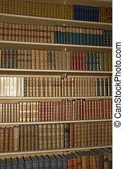 book shelf - shelf full of old books