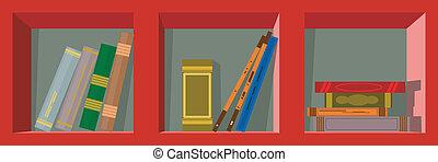 Book shelf. Vector