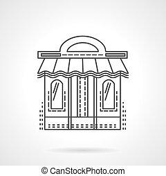 Book shop facade flat line vector icon