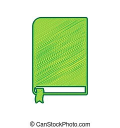Book sign. Vector. Lemon scribble icon on white background. Isolated