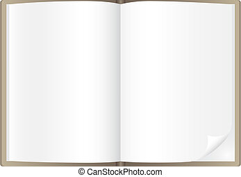 Simple book isolated on the white background