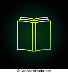Book simple green icon