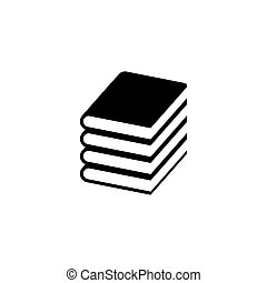 Book Stack Flat Vector Icon