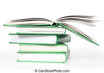 Book stack isolated