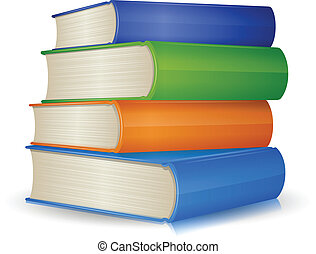 Book Stack - Stack of colorful books.