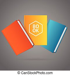 Book Stack. Vector