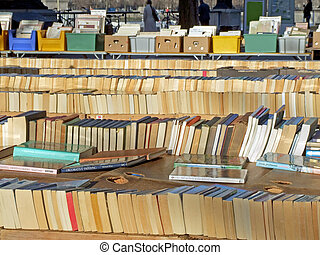 Book stalls - View of big book stalls in several lines