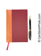 book and pen with close up