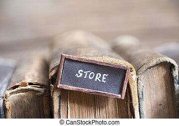 book store retro concept