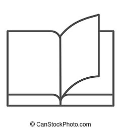Book thin line icon. Education vector illustration isolated on white. Learning outline style design, designed for web and app. Eps 10.