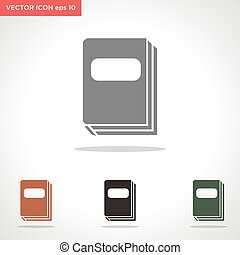 book vector icon isolated on white background