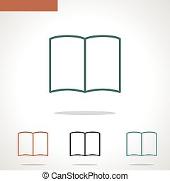 book vector line icon isolated on white background