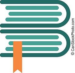 Book vector logo design.