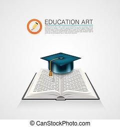 Book with a cap. art sign
