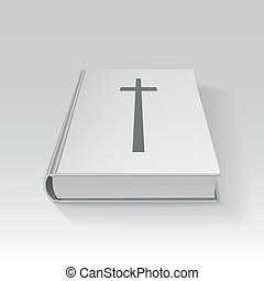 Book with a cross, vector illustration