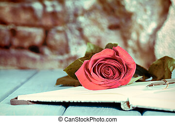 Book with a rose