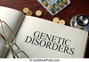 genetic disorders - Book with diagnosis genetic disorders...