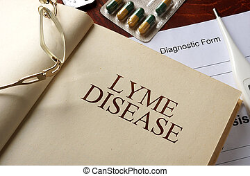 Lyme disease - Book with diagnosis Lyme disease. Medic...