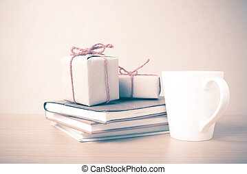 book with gift box vintage style