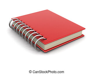 Book with hard cover. Image with clipping path