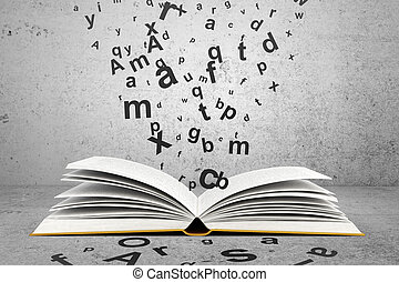 book with letters