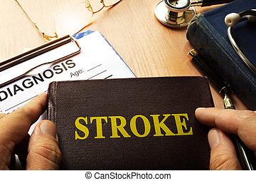 Book with name brain stroke disease.