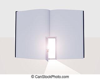 Book with open door