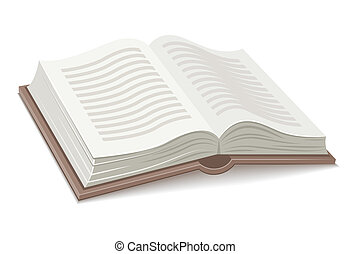 Book with open spread. Eps10 vector illustration. Isolated...