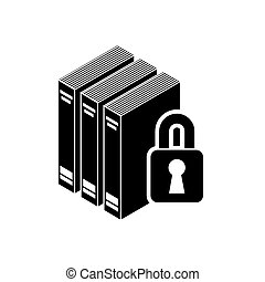 book with padlock icon